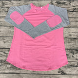 Women's Patch Sleeve Raglan Shirt