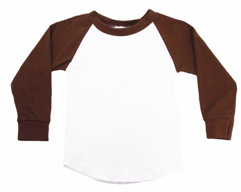 Long Sleeve Raglan T-Shirt - Brown