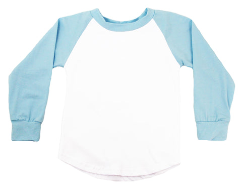 Long Sleeve Raglan T-Shirt - Light Blue