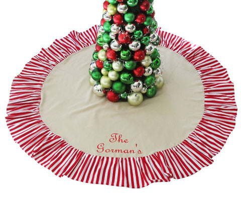 Family Christmas Tree Skirt - Personalized (3 Styles