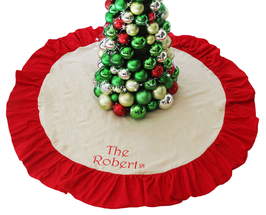 family christmas tree skirt personalized 3 styles