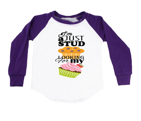 I'm Just A Stud Muffin Looking For My Cupcake - Raglan T-Shirt