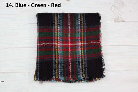 Women's Plaid Blanket Scarf (19 Options)