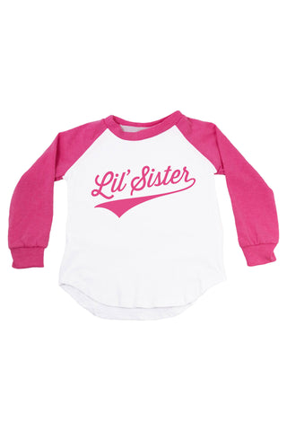 Lil' Sister - Personalized Name & Number Raglan T-Shirt