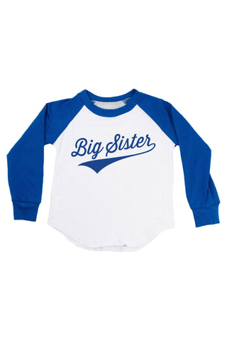 Big Sister - Personalized Name & Number Raglan T-Shirt