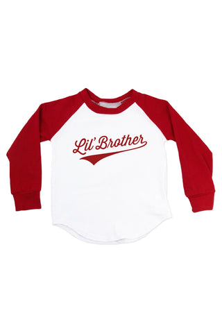 Lil' Brother - Personalized Name & Number Raglan T-Shirt
