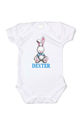 Bow Tie Bunny Personalized Onesie