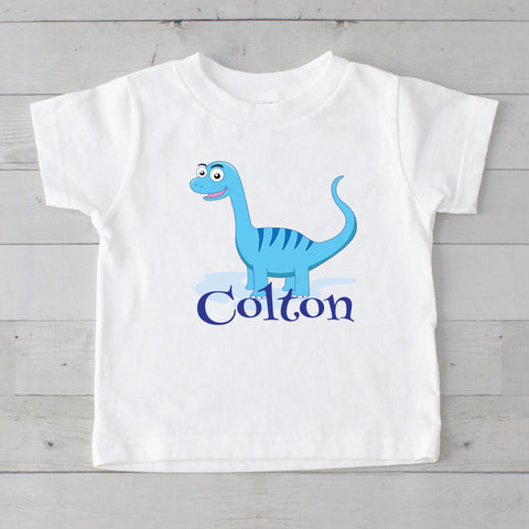 Blue Dino Personalized Graphic T-Shirt