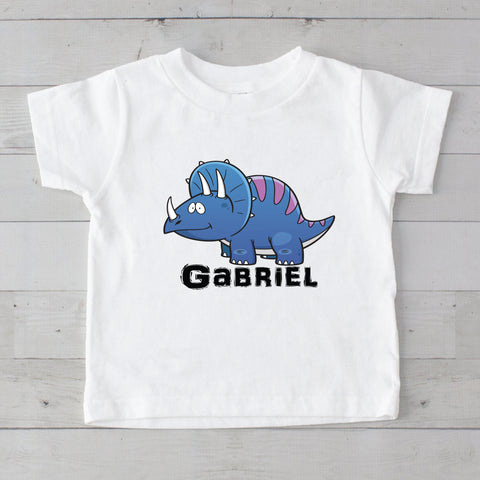 Blue & Purple Baby Dino Personalized Graphic T-Shirt