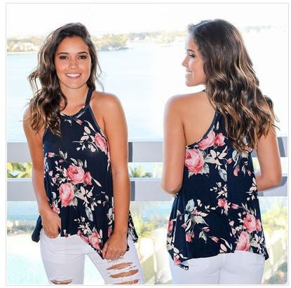Summer Floral Tank Tops