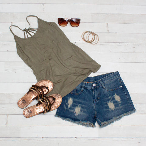 Strappy Back Summer Tank Top