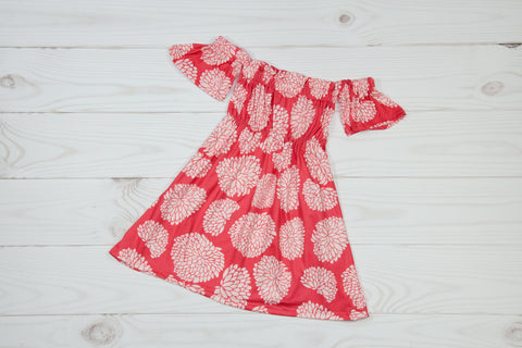 Coral & Ivory Floral Dress