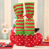 Set of 2 - Holiday Elf Chair Leg Covers