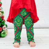 Holiday Paisley A-Line Tunic Set - Top, Pants & Scarf