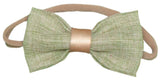Gold Band Fabric Bow Headbands