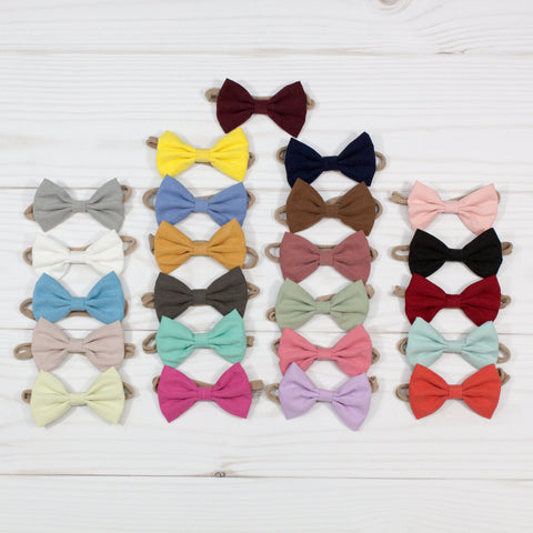 Fabric Bow Headbands