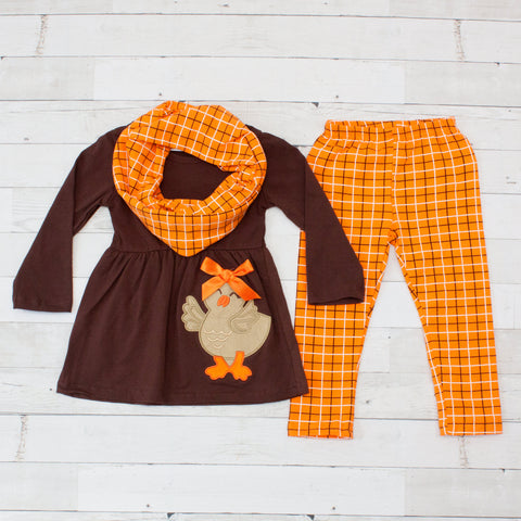 Little Turkey 3pc Pant Set