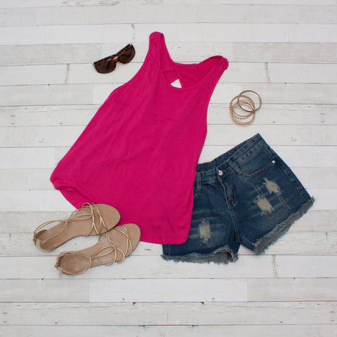 Twist Back Tank Top