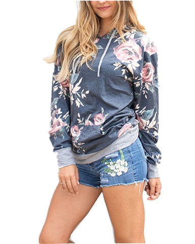 Floral Pocket Hoodies