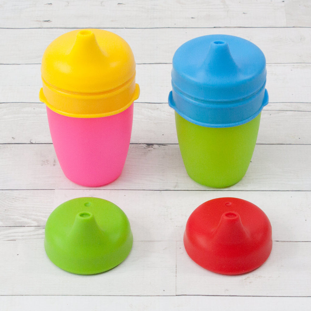 Set of 4 Silicone Sippy Cup Tops