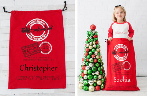 Express Delivery Giant North Pole Gift Bag - Personalized
