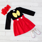 Girls Character Inspired Long Sleeve Dress