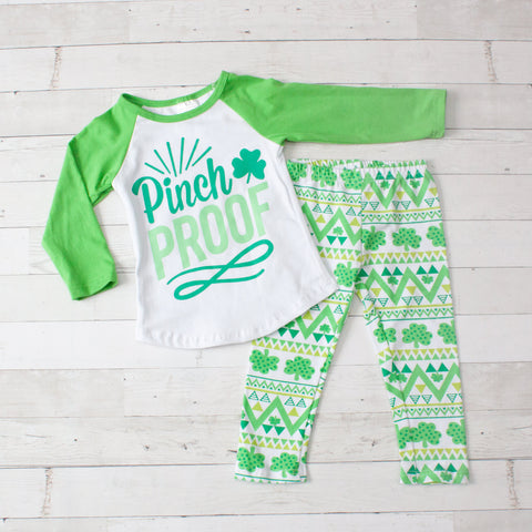 Pinch Proof Long Sleeve Top & Pants Set- 2 Piece
