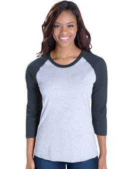 Women's Heather Baseball Tee