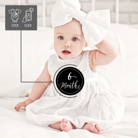 Baby Monthly Stickers - Black & White