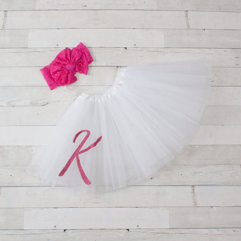 3 Layer Tulle Dance Tutu - Personalized w/ Glitter Vinyl