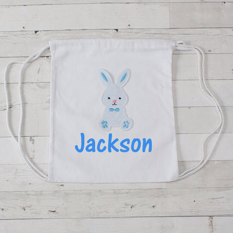 Personalized Easter Bunny Canvas Bag