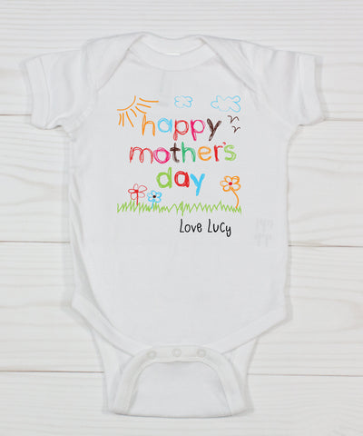Happy Mother's Day Personalized Bodysuit
