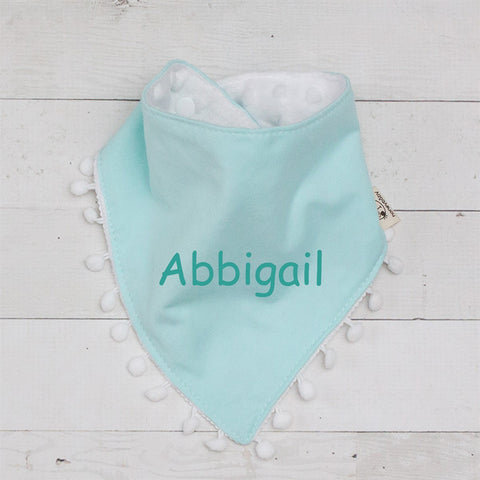 Soft Minky Dot Reversible Baby Bib with Button Closure