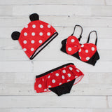 Character Inspired 3 Piece Swimsuit