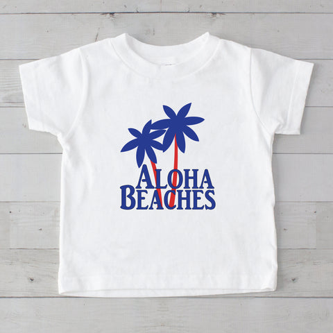 Aloha Beaches with Palms Graphic T-Shirt