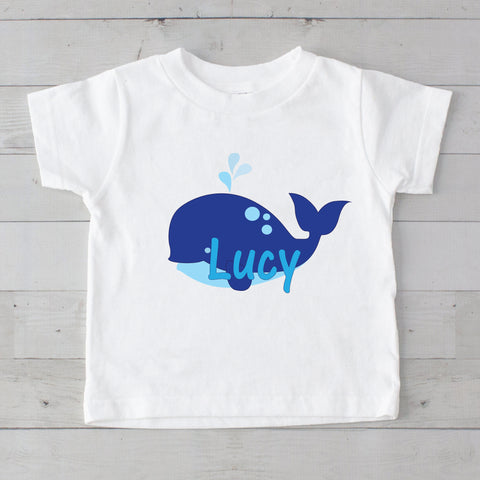 Blue Whale Personalized Graphic T-Shirt