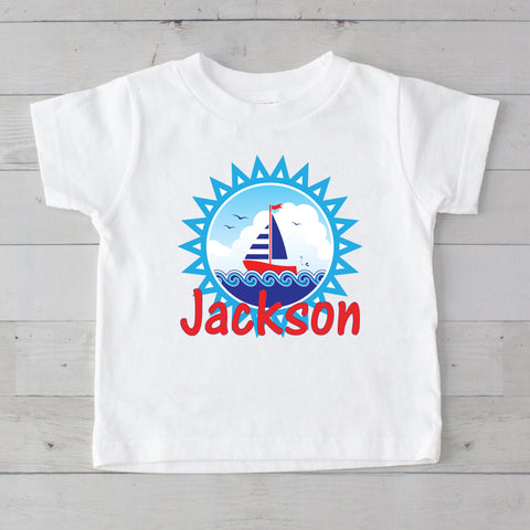 Sailing Personalized Graphic T-Shirt