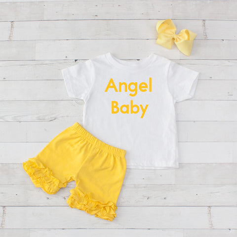Angel Baby - 3pc Shirt and Short Set