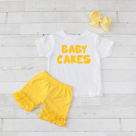 Baby Cakes - 3pc Shirt and Short Set