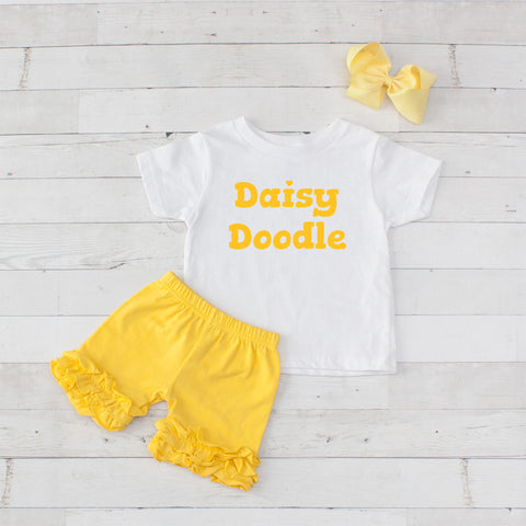 Daisy Doodle - 3pc Shirt and Short Set