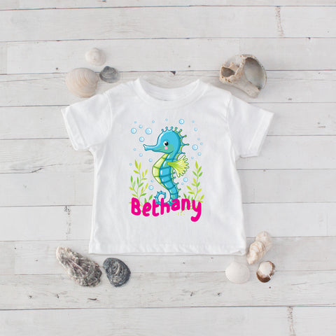 Seahorse Personalized Graphic T-Shirt