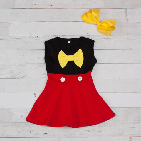 Girls Character Inspired Red & Black Dress