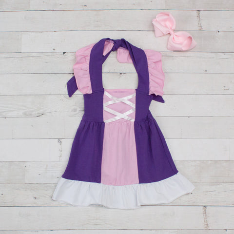 Girls Character Inspired Rapunzel Dress