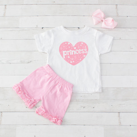 Princess Heart - 3pc Shirt and Short Set