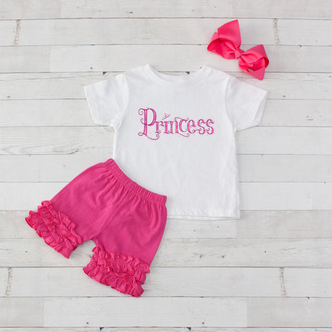 Fancy Princess - 3pc Shirt and Short Set