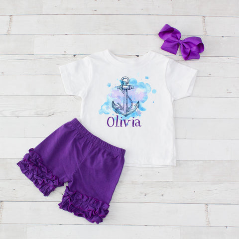 Anchor - 3pc Personalized Graphic Shirt and Short Set