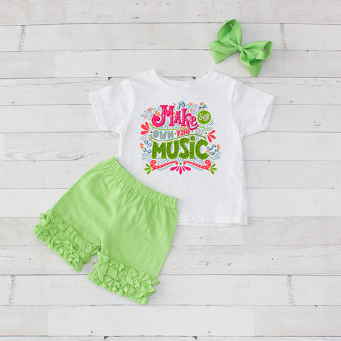 Make Your Own Kind Of Music - 3pc Shirt and Short Set