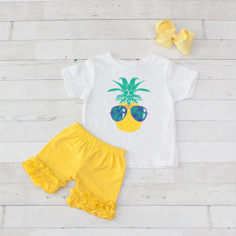 Cool Pineapple - 3pc Shirt and Short Set