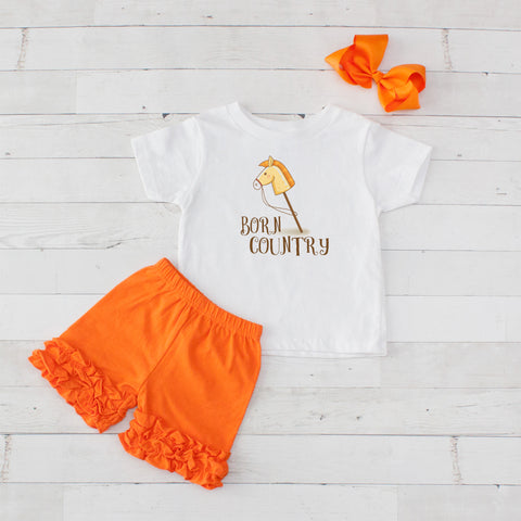 Born Country - 3pc Shirt and Short Set