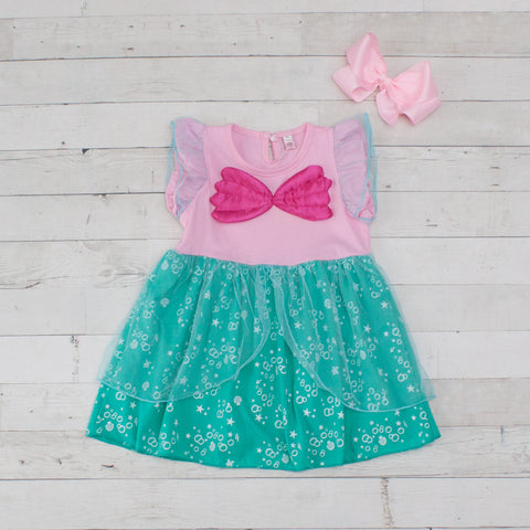 Girls Character Inspired Dress - Ariel